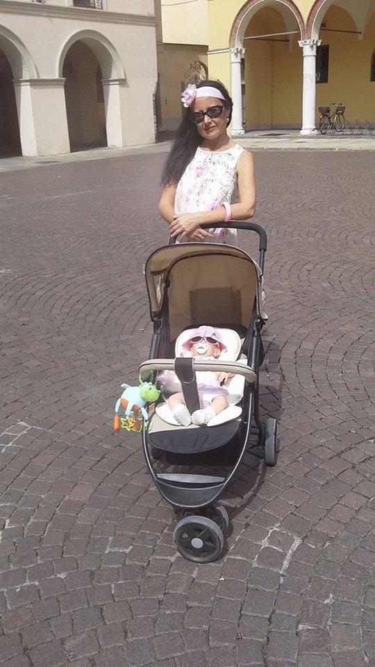 Barbara roaming around with her Reborn Baby Doll